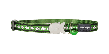 Cat Collar in Reflective Green