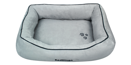 Red Dingo Donut Bed in Grey
