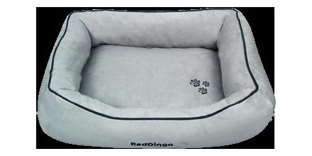 Red Dingo Donut Bed in Grey