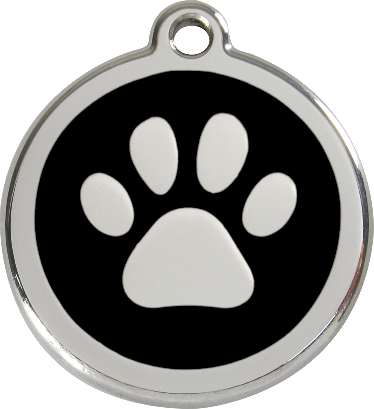 Dog Paw Print Png Red dingo enamel tag paw print
