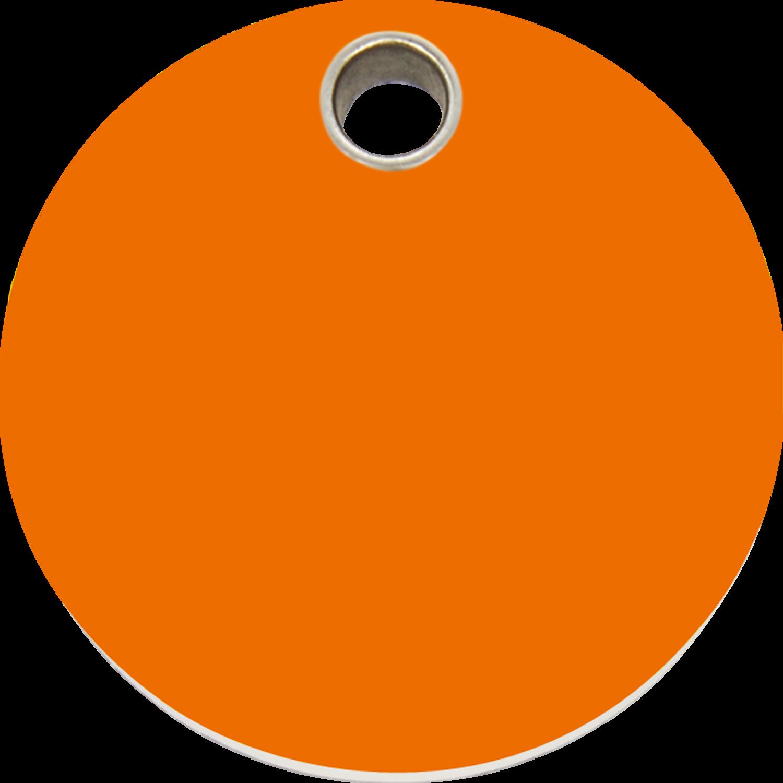 Red Dingo Plastic Tag Circle Orange 04 CL OR (4CLOS / 4CLOM