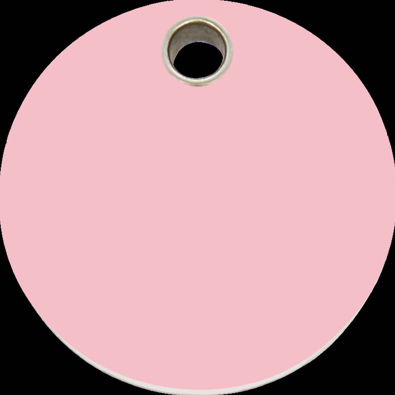 Red Dingo Plastic Tag Circle Pink 04 Cl Pk 4clpks