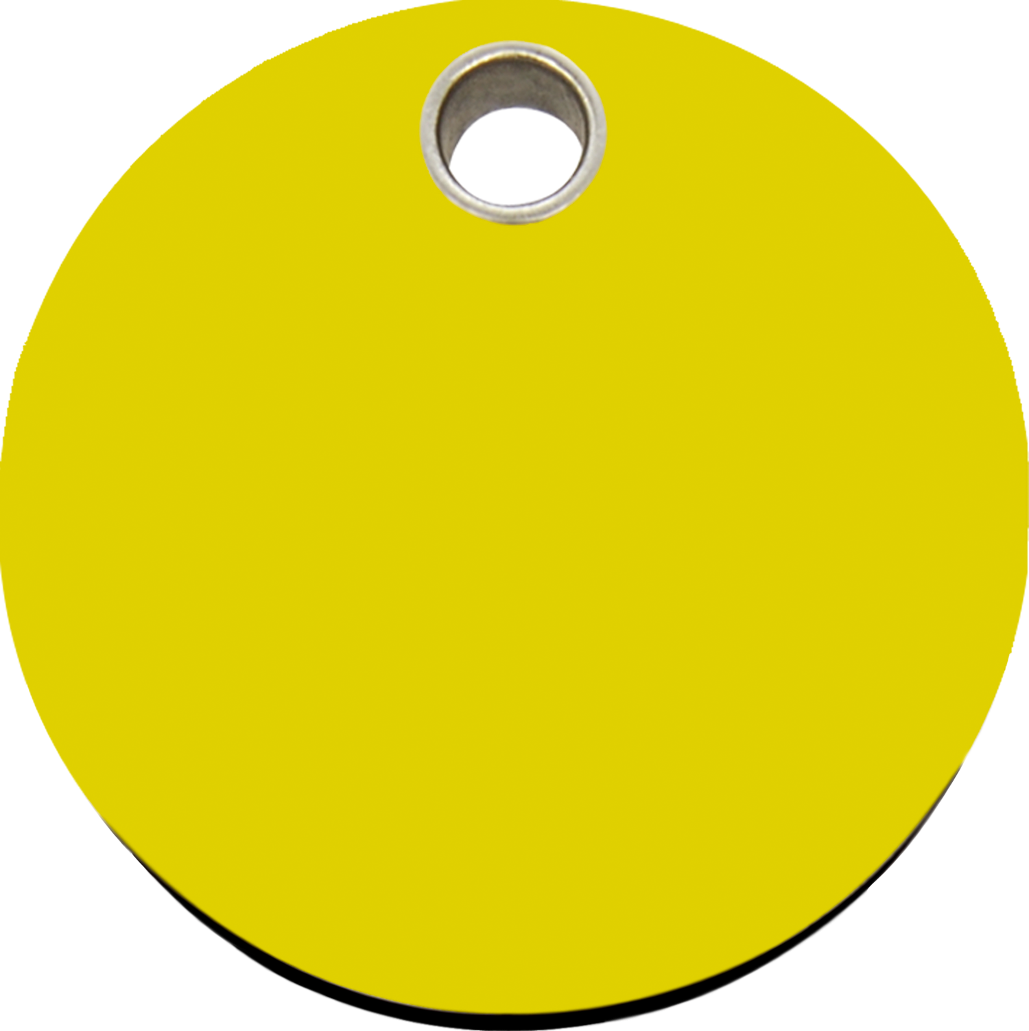 Red Dingo Plastic Tag Circle Yellow 04 CL YE (4CLYS / 4CLYM