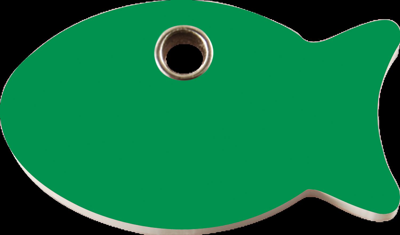 Red Dingo United Kingdom Plastic Tag Fish Green 04 Fi Gr