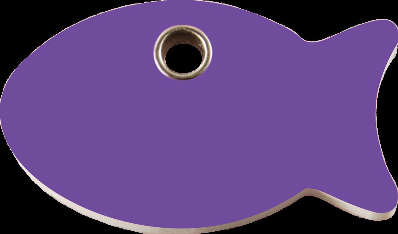 Red Dingo Plastic Tag Fish Purple 04 Fi Pu 4fips