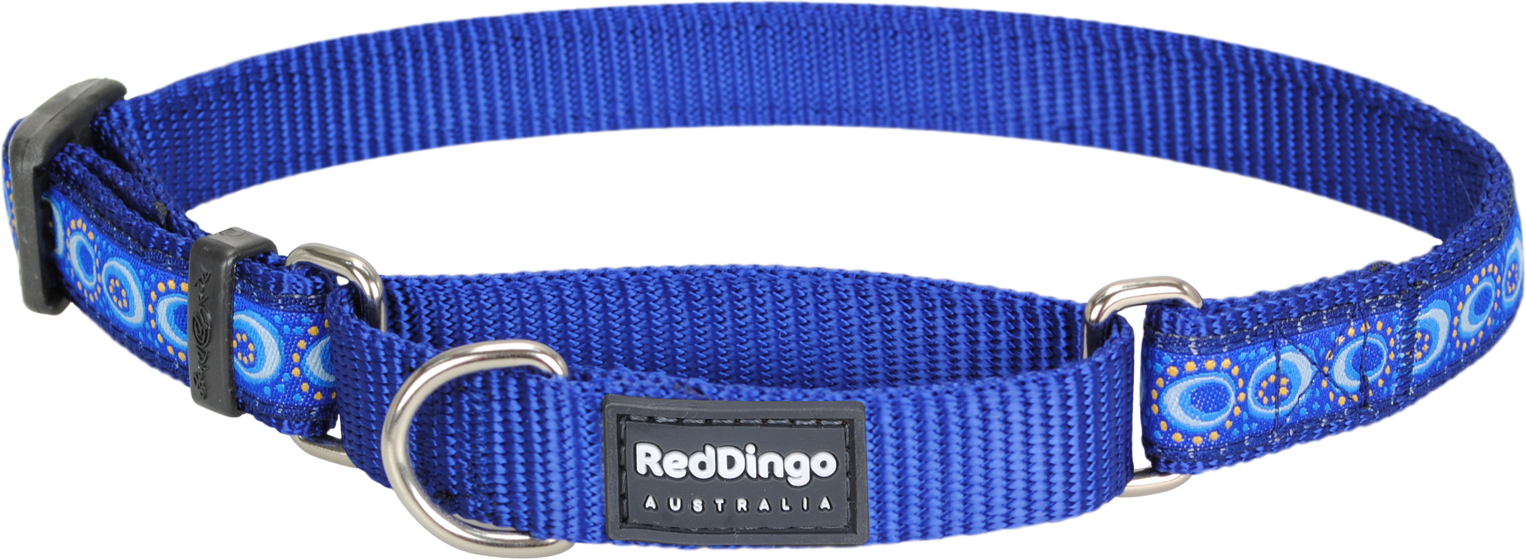 red dingo martingale collar cosmos dark blue mccodb