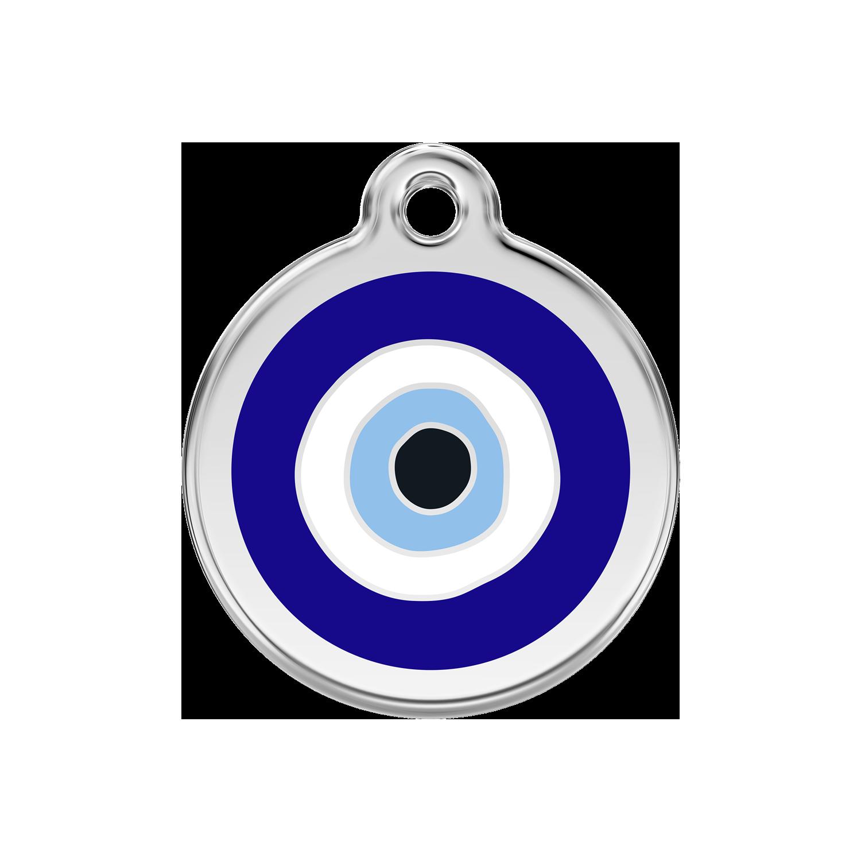 Red Dingo Enamel Tag Evil Eye Dark Blue 01-EE-DB (1EENS / 1EENM / 1EENL)