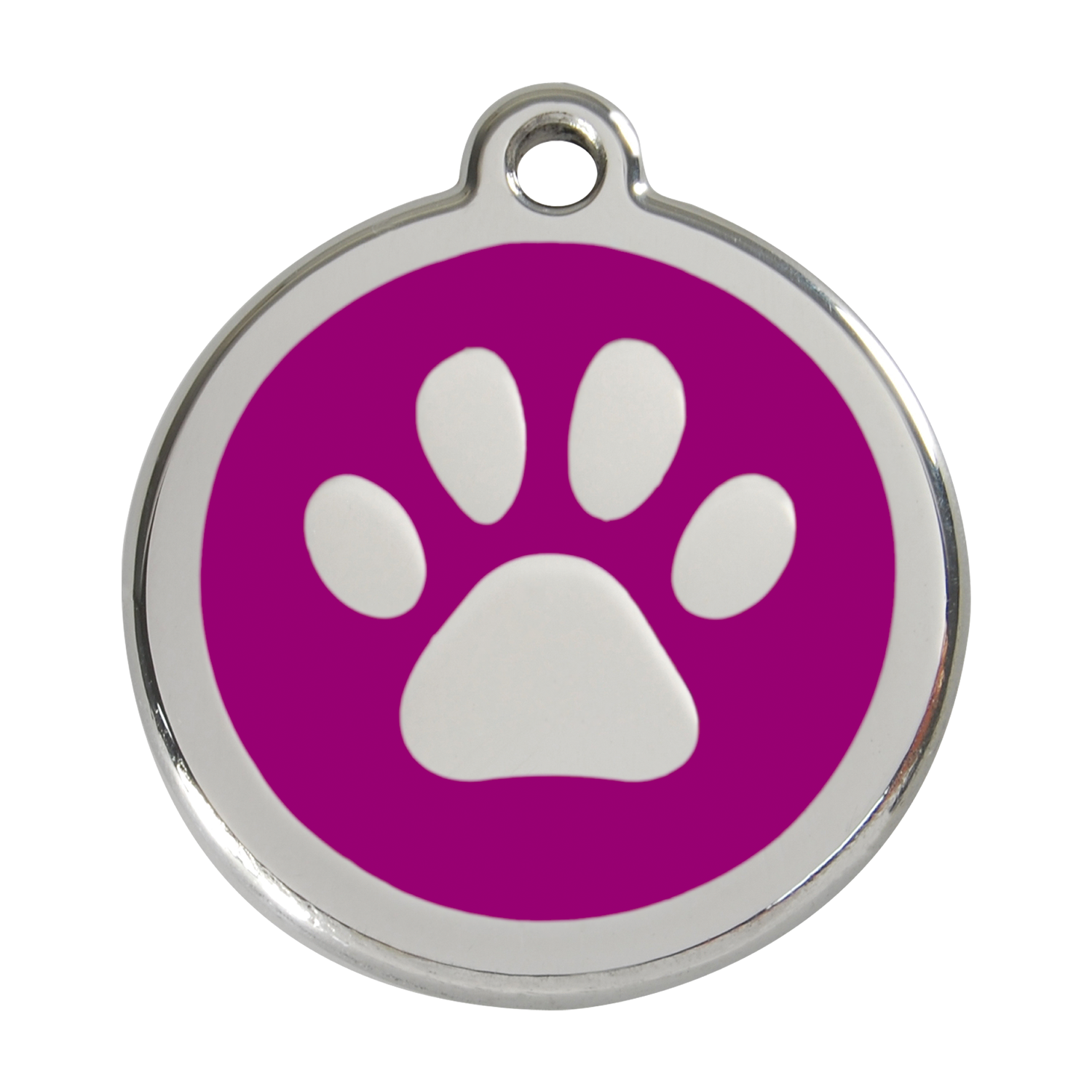 Purple Paw Print Red dingo enamel tag paw print
