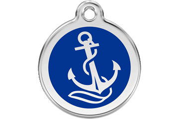 Red Dingo Enamel Tag Anchor Dark Blue 01-AN-DB (1ANNS / 1ANNM / 1ANNL)