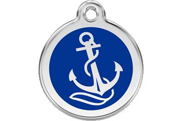 Red Dingo Médaillon en émail Anchor Bleu Foncé 01-AN-DB (1ANNS / 1ANNM / 1ANNL)