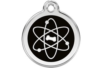 Red Dingo Enamel Tag Atom Black 01-AT-BB (1ATBS / 1ATBM / 1ATBL)