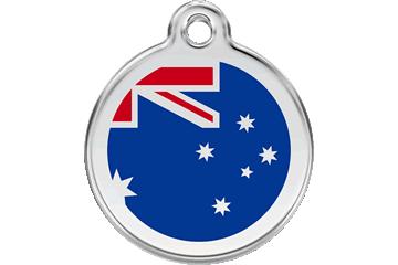 Red Dingo Tiermarke mit Emaille Australian Flag Dunkelblau 01-AU-DB (1AUNS / 1AUNM / 1AUNL)