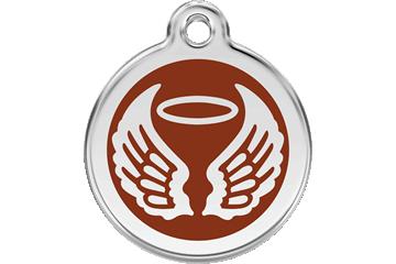 Red Dingo Médaillon en émail Angel Wings Marron 01-AW-BR (1AWBRS / 1AWBRM / 1AWBRL)