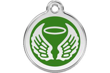 Red Dingo Médaillon en émail Angel Wings Vert 01-AW-GR (1AWGS / 1AWGM / 1AWGL)