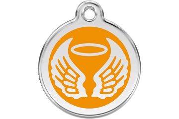 Red Dingo Médaillon en émail Angel Wings Orange 01-AW-OR (1AWOS / 1AWOM / 1AWOL)