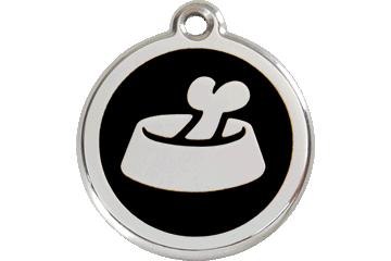 Red Dingo Tiermarke mit Emaille Bone In Bowl Schwarz 01-BB-BB (1BBBS / 1BBBM / 1BBBL)