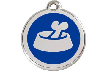 Red Dingo Médaillon en émail Bone In Bowl Bleu Foncé 01-BB-DB (1BBNS / 1BBNM / 1BBNL)