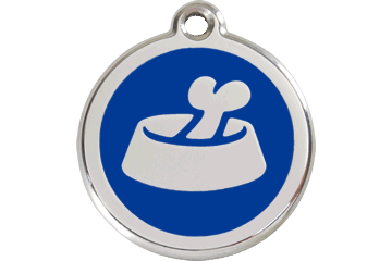 Red Dingo Enamel Tag Bone In Bowl Dark Blue 01-BB-DB (1BBNS / 1BBNM / 1BBNL)