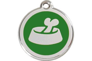 Red Dingo Tiermarke mit Emaille Bone In Bowl Grün 01-BB-GR (1BBGS / 1BBGM / 1BBGL)
