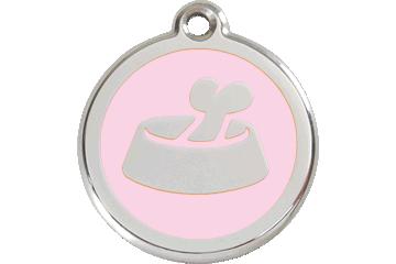 Red Dingo Tiermarke mit Emaille Bone In Bowl Pink 01-BB-PK (1BBPKS / 1BBPKM / 1BBPKL)