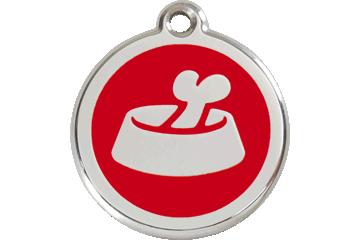 Red Dingo Tiermarke mit Emaille Bone In Bowl Rot 01-BB-RE (1BBRS / 1BBRM / 1BBRL)