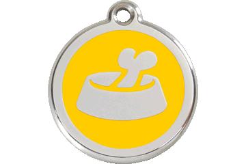 Red Dingo Tiermarke mit Emaille Bone In Bowl Gelb 01-BB-YE (1BBYS / 1BBYM / 1BBYL)