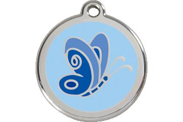 Red Dingo Médaillon en émail Butterfly Bleu Clair 01-BL-LB (1BLLBS / 1BLLBM / 1BLLBL)