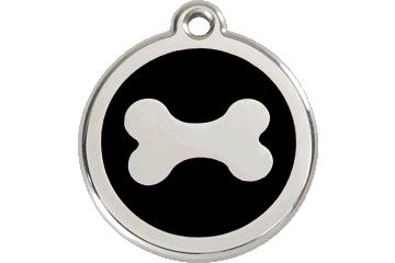 Red Dingo Médaillon en émail Bone Noire 01-BN-BB (1BNBS / 1BNBM / 1BNBL)