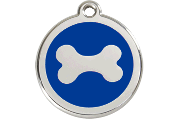 Red Dingo Enamel Tag Bone Dark Blue 01-BN-DB (1BNNS / 1BNNM / 1BNNL)