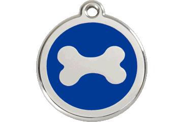 Red Dingo Enamel Tag Bone Dark Blue 01-BN-DB (1BNNS / 1BNNM / 1BNNL)
