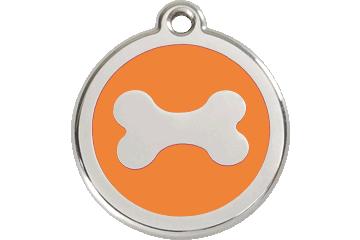 Red Dingo Médaillon en émail Bone Orange 01-BN-OR (1BNOS / 1BNOM / 1BNOL)