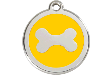 Red Dingo Enamel Tag Bone Yellow 01-BN-YE (1BNYS / 1BNYM / 1BNYL)
