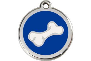 Red Dingo Enamel Tag Bone Dark Blue 01-BO-DB (1BONS / 1BONM / 1BONL)