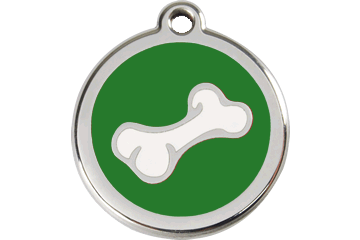 Red Dingo Enamel Tag Bone Green 01-BO-GR (1BOGS / 1BOGM / 1BOGL)