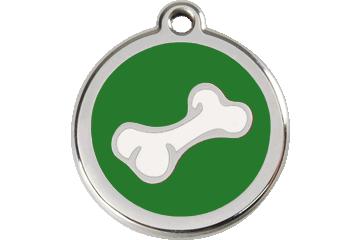 Red Dingo Enamel Tag Bone Green 01-BO-GR (1BOGS / 1BOGM / 1BOGL)