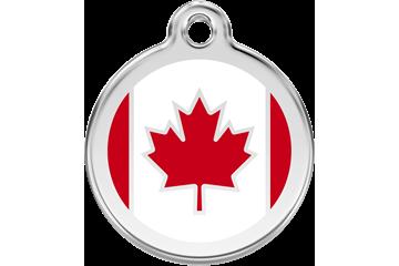 Red Dingo Médaillon en émail Canadian Flag Rouge 01-CA-RE (1CASL / 1CARM / 1CARS)