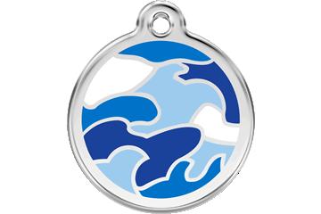 Red Dingo Médaillon en émail Camouflage Bleu Foncé 01-CB-DB (1CBNS / 1CBNM / 1CBNL)