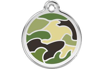 Red Dingo Enamel Tag Camouflage Green 01-CG-GR (1CGGS / 1CGGM / 1CGGL)