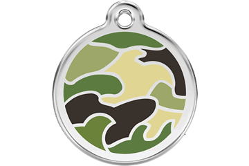 Red Dingo Médaillon en émail Camouflage Vert 01-CG-GR (1CGGS / 1CGGM / 1CGGL)