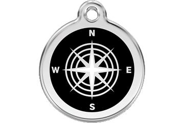 Red Dingo Médaillon en émail Compass Noire 01-CM-BB (1CMBS / 1CMBM / 1CMBL)