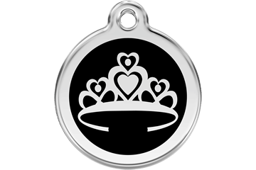 Red Dingo Enamel Tag Crown Black 01-CR-BB (1CRBS / 1CRBM / 1CRBL)