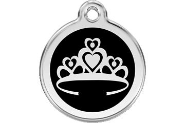 Red Dingo Médaillon en émail Crown Noire 01-CR-BB (1CRBS / 1CRBM / 1CRBL)