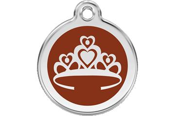 Red Dingo Médaillon en émail Crown Marron 01-CR-BR (1CRBRS / 1CRBRM / 1CRBRL)