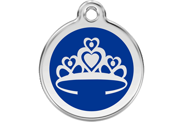 Red Dingo Enamel Tag Crown Dark Blue 01-CR-DB (1CRNS / 1CRNM / 1CRNL)