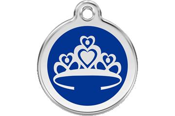 Red Dingo Médaillon en émail Couronne Bleu Foncé 01-CR-DB (1CRNS / 1CRNM / 1CRNL)