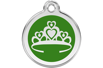 Red Dingo Enamel Tag Crown Green 01-CR-GR (1CRGS / 1CRGM / 1CRGL)