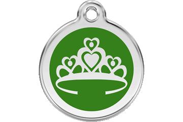 Red Dingo Médaillon en émail Crown Vert 01-CR-GR (1CRGS / 1CRGM / 1CRGL)