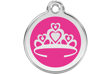 Red Dingo Enamel Tag Crown Hot Pink 01-CR-HP (1CRHPS / 1CRHPM / 1CRHPL)