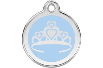 Red Dingo Enamel Tag Crown Light Blue 01-CR-LB (1CRLBS / 1CRLBM / 1CRLBL)