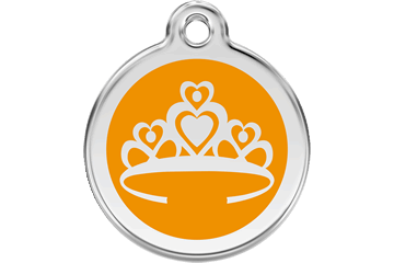 Red Dingo Enamel Tag Crown Orange 01-CR-OR (1CROS / 1CROM / 1CROL)